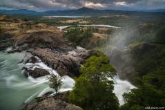 Mellizos Waterfall, Rio El Salto, Cochrane