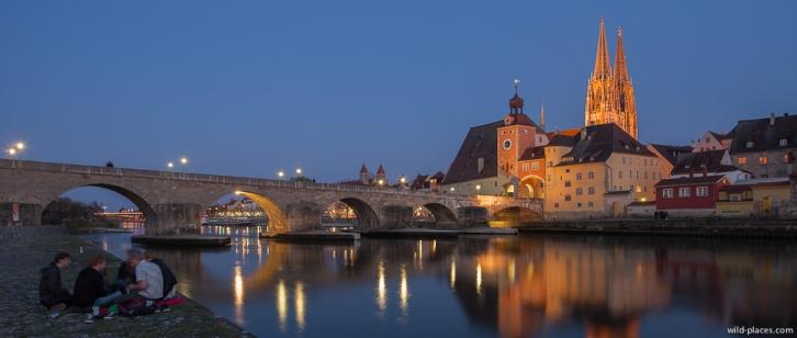 Steinerne Brücke, Regensburg, Germany
