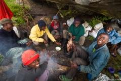 Nyamileju Hut, Bujuku River Valley, Rwenzori, Uganda