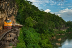 Tham Kra Sae Bridge, Death Railway, near Sai Yok