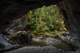 Little Huson Caves Regional Park, Vancouver Island, BC, Canada