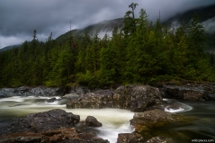 Waterfall at the Kennedy River, Vancouver Island, BC, Canada