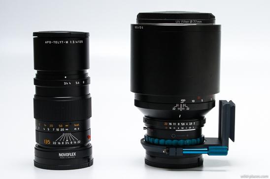 135mm lenses