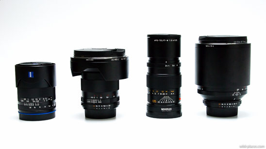 21mm and 135mm lenses